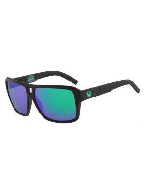Dragon The Jam LL H20 Polar Sunglasses (H20 Matte Black/LL Green)