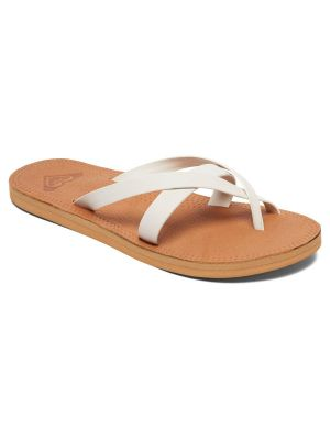 Roxy Women's Gemma Leather Sandal, Cream