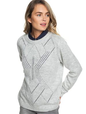 Roxy Candidate Waves Womens Sweater, Heritage Grey