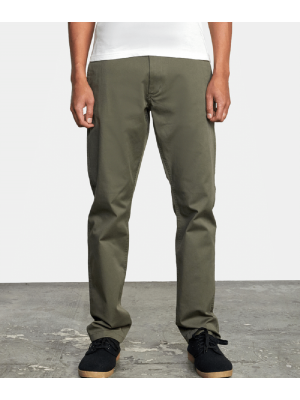 RVCA Men's The Weekend Stretch Chino Pant (Olive)