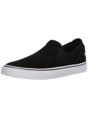 Emerica Men's Wino G6 Slip-ON Skate Shoe, black/white/gold