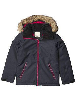 Roxy Kids Girl's American Pie Solid Snow Jacket (True Black) 2021