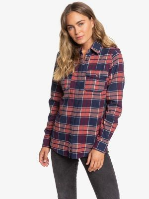 Roxy Women's Dream in Blue Flannel Shirt 2020