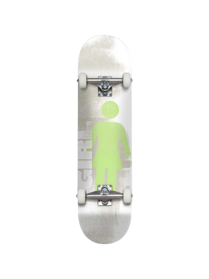 Girl Skateboards Bennett Roller Complete Skateboard (7.75in, White/Green) 2021