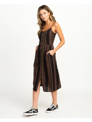 RVCA Medway Striped Midi Dress Women's 2018