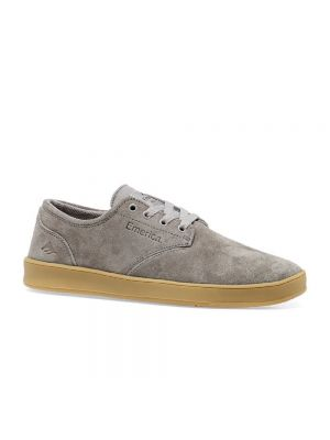 Emerica Men's The Romero Laced Skate Shoe, Warm Grey Suede
