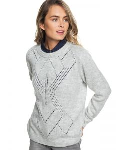 Roxy Candidate Waves Womens Sweater, Heritage Grey, 2019