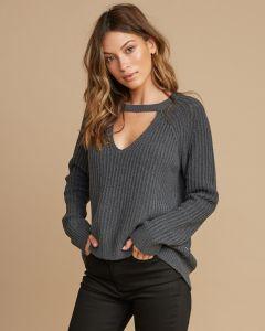 RVCA Case Knit Keyhole Womens Sweater  2019